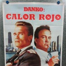 Cinéma: DANKO: CALOR ROJO. ARNOLD SCHWARZENEGGER, JAMES BELUSHI, PETER BOYLE AÑO 1988 POSTER ORIGINAL. Lote 226887970