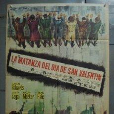 Cine: CDO 7346 LA MATANZA DEL DIA DE SAN VALENTIN ROGER CORMAN GEORGE SEGAL POSTER ORIGINAL 70X100 ESTRENO. Lote 226903620