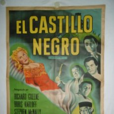 Cine: EL CASTILLO NEGRO - 110 X 75CM - 1952 - LITOGRAFICO. Lote 226948755
