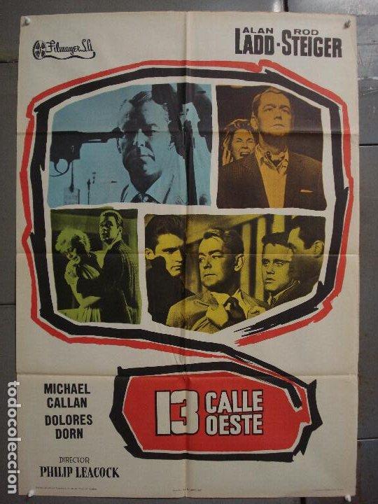 CDO 7356 13 CALLE OESTE ALAN LADD POSTER ORIGINAL 70X100 ESTRENO (Cine - Posters y Carteles - Acción)