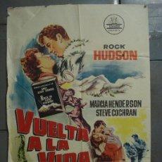 Cine: CDO 7374 VUELTA A LA VIDA ROCK HUDSON CIFESA POSTER ORIGINAL ESPAÑOL 70X100 ESTRENO. Lote 227153175