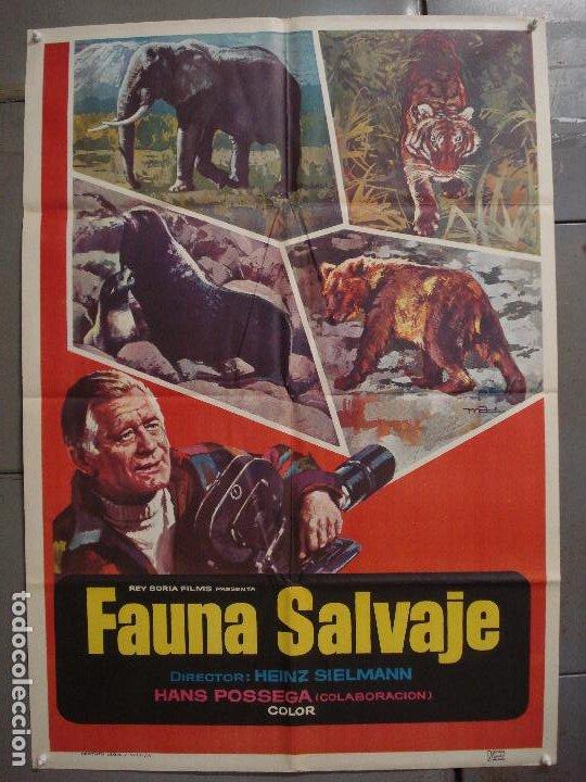 CDO 7381 FAUNA SALVAJE HEINZ SIELMANN DOCUMENTAL MAC POSTER ORIGINAL 70X100 ESTRENO (Cine - Posters y Carteles - Documentales)