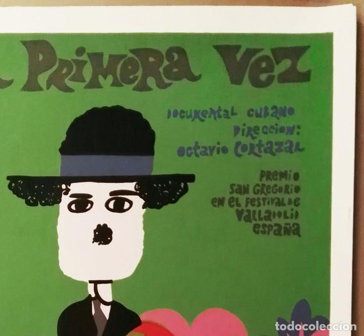 Cine: Por Primera Vez - Serigrafía original impresa a mano - Cartel de cine 1968 por Bachs - ICAIC Cuba - Foto 3 - 227216755