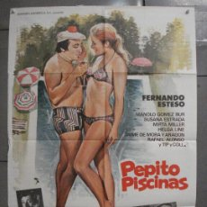 Cine: CDO 7403 PEPITO PISCINAS FERNANDO ESTESO SUSANA ESTRADA POSTER ORIGINAL 70X100 ESTRENO. Lote 227234225