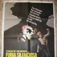 Cinema: FURIA SILENCIOSA 1982 CHUCK NORRIS CARTEL DE CINE 100 X 70 CM. POSTER DE JANO. Lote 227492690