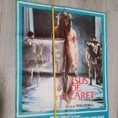Cine: JESÚS DE NAZARET , FRANCO ZEFFIRELLI 1978 CARTEL DE CINE ORIGINAL MIDE 100 X 68 CM.. Lote 227611550