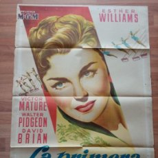 Cine: CARTEL ORIGINAL MGM LA PRIMERA SIRENA.ESTHER WILLIAMS. Lote 227693994