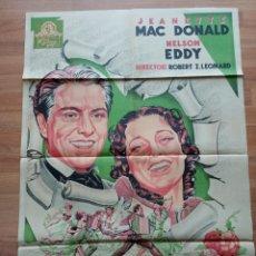 Cine: CARTEL ORIGINAL MGM DE PRIMAVERA JEANETTE MACDONALD NELSON EDDY. Lote 227695860