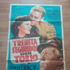 "Cinema: CARTEL CINE ""TREINTA SEGUNDOS SOBRE TOKIO"", SPENCER TRACY, VAN JOHNSON, ROBERT WALKER, TIM MURDOCK. Lote 227702291"