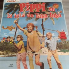 Cine: PIPPI EN LA ISLA DE TAKA-TUKA, CARTEL DE CINE ,MIDE 100 X 68 CM.. Lote 227756100