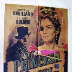 Cine: LA PRINCESA DE ÉBOLI, CON OLIVIA DE HAVILLAND. PÓSTER. 70 X 99 CMS.1982. DISEÑO: JANO.. Lote 227779270