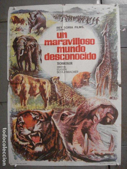 CDO 7425 UN MARAVILLOSO MUNDO DESCONOCIDO EUGENE SCHUHMACHER DOCUMENTAL ANIMALES ORIG 70X100 ESTRENO (Cine - Posters y Carteles - Documentales)