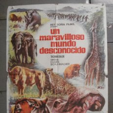 Cine: CDO 7425 UN MARAVILLOSO MUNDO DESCONOCIDO EUGENE SCHUHMACHER DOCUMENTAL ANIMALES ORIG 70X100 ESTRENO. Lote 227863520