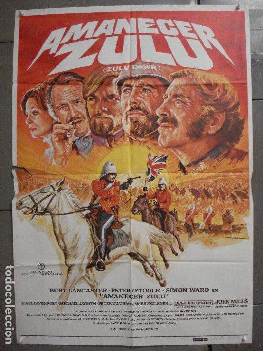 CDO 7431 AMANECER ZULU BURT LANCASTER PETER O'TOOLE MAC POSTER ORIGINAL ESTRENO 70X100 (Cine - Posters y Carteles - Aventura)