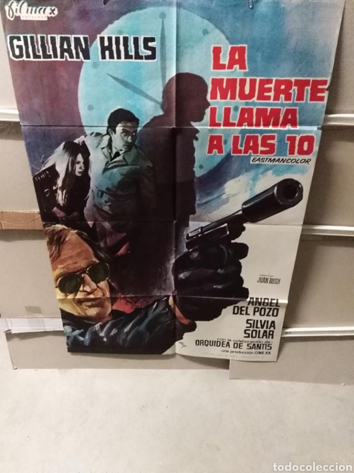 LA MUERTE LLAMA A LAS 10 POSTER ORIGINAL 70X100 YY (2490) (Cine - Posters y Carteles - Suspense)