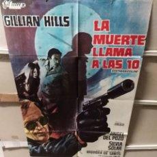 Cine: LA MUERTE LLAMA A LAS 10 POSTER ORIGINAL 70X100 YY (2490). Lote 228000700
