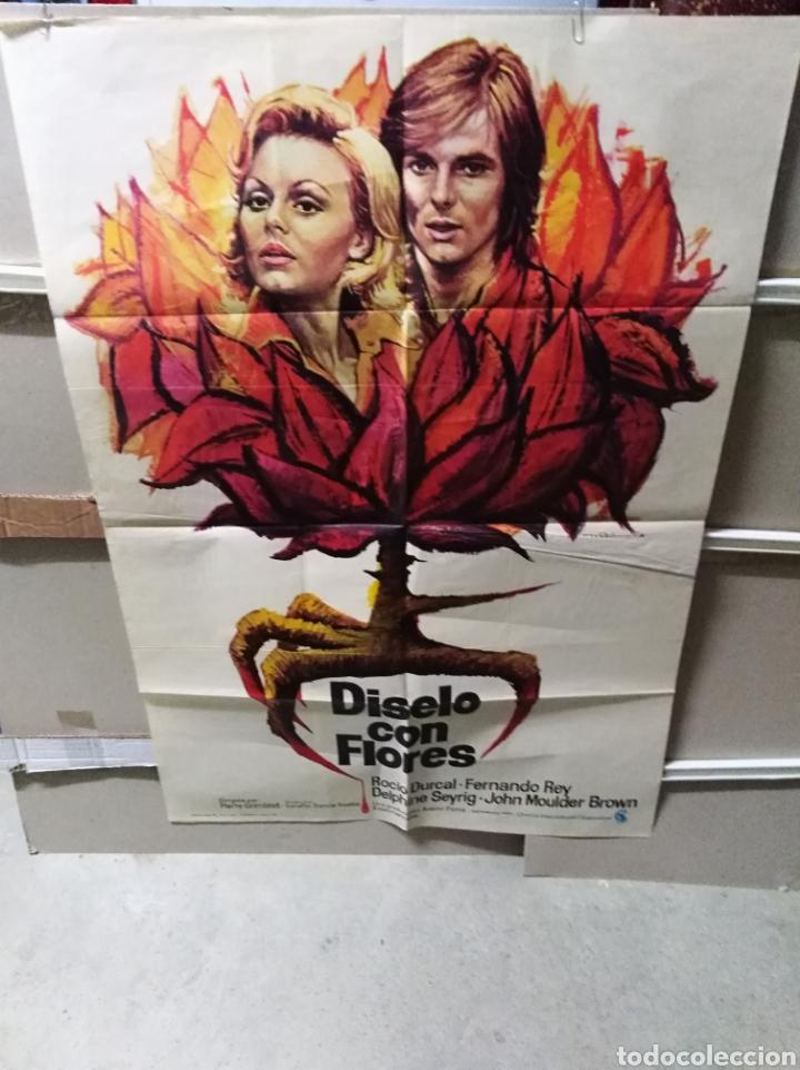 DISELO CON FLORES ROCIO DURCAL POSTER ORIGINAL 70X100 YY (2494) (Cine - Posters y Carteles - Clasico Español)