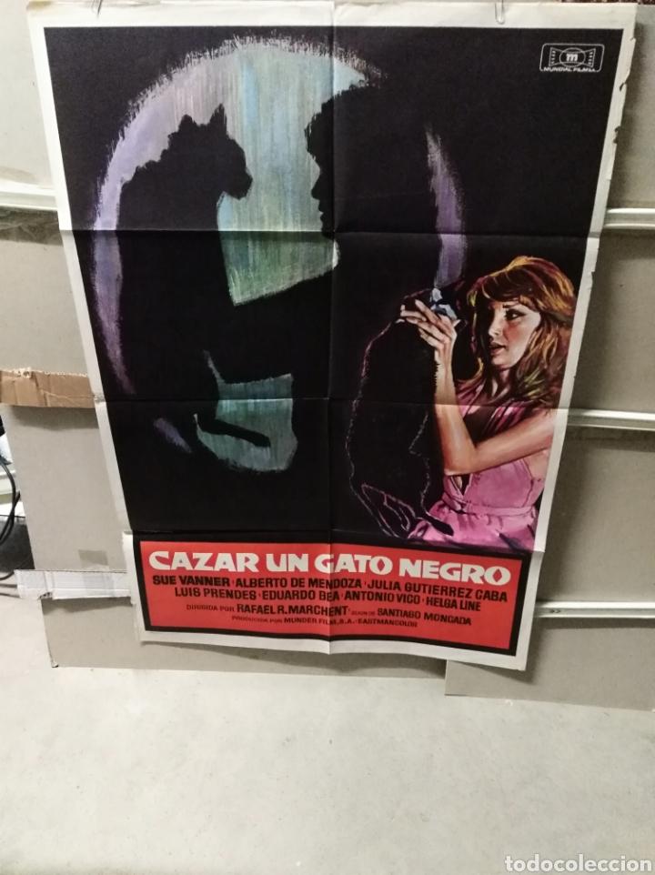 CAZAR UN GATO NEGRO POSTER ORIGINAL 70X100 YY (2495) (Cine - Posters y Carteles - Suspense)