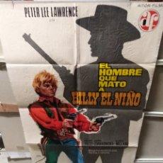 Cine: EL HOMBRE QUE MATO A BILLY EL NIÑO PETER LEE LAWRENCE POSTER ORIGINAL 70X100 YY (2496). Lote 228003770