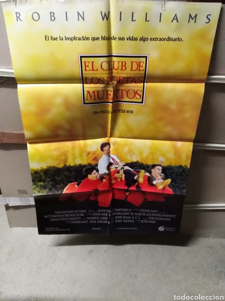 EL CLUB DE LOS POETAS MUERTOS ROBIN WILLIAMS POSTER ORIGINAL 70X100 YY (2493) (Cine- Posters y Carteles - Drama)