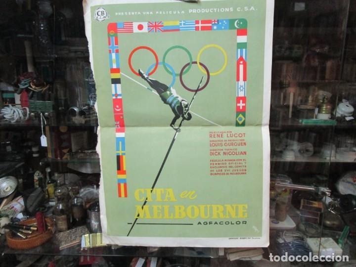 CARTEL PELICULA ' CITA EN MELBOURNE ' XVI JUEGOS OLIMPICOS 1956 - 54X37CM CB FILMS+ INFO (Cine - Posters y Carteles - Deportes)