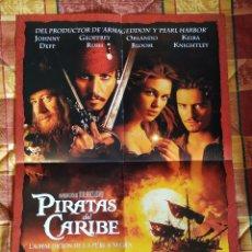 Cine: POSTER DOBLE PIRATAS DEL CARIBE (JOHNNY DEPP) + TERMINATOR 3. Lote 228118515