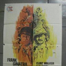 Cine: CDO 7457 TODOS ERAN VALIENTES FRANK SINATRA CLINT WALKER JANO POSTER ORIGINAL 70X100 ESTRENO. Lote 228162850