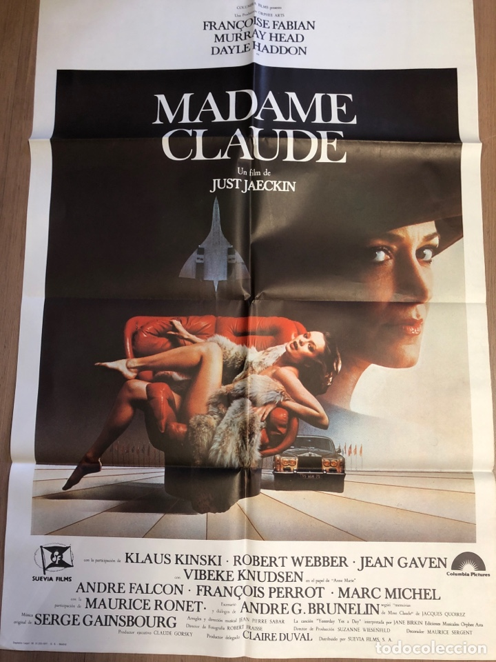 Cine: Cartel de cine MADAM CLAUDE 70x100cm - Foto 2 - 228248650