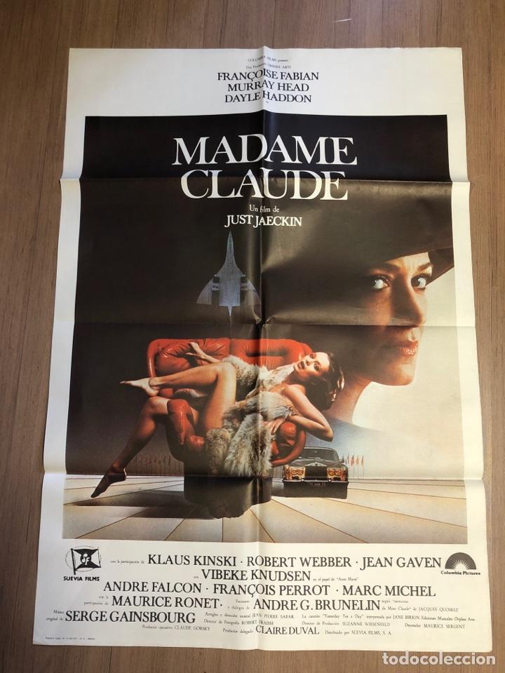 CARTEL DE CINE MADAM CLAUDE 70X100CM (Cine - Posters y Carteles - Suspense)