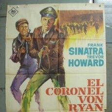 Cinema: CDO 7487 EL CORONEL VON RYAN FRANK SINATRA RAFFAELLA CARRA POSTER ORIGINAL 70X100 ESTRENO. Lote 228274690