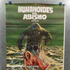 Cinema: HUMANOIDES DEL ABISMO. DOUG MCCLURE, ANN TURKEL, VIC MORROW. AÑO 1984. POSTER ORIGINAL. Lote 228296770