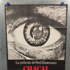 Cine: CHACAL. EDWARD FOX, MICHAEL LONSDALE, DEREK JACOBI. AÑO 1973. POSTER ORIGINAL. Lote 228308240
