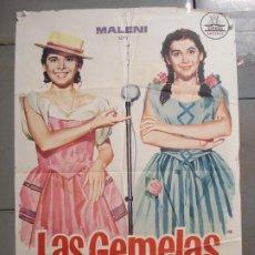 Cinema: CDO 7507 LAS GEMELAS MALENI DE CASTRO RAPHAEL JOSE BODALO POSTER ORIGINAL 70X100 ESTRENO. Lote 228329575