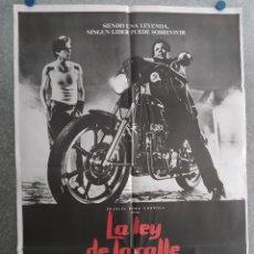 Cinema: LA LEY DE LA CALLE RUMBLE FISH MATT DILLON, MICKEY ROURKE, COPPOLA. POSTER ORIGINAL. Lote 228403725