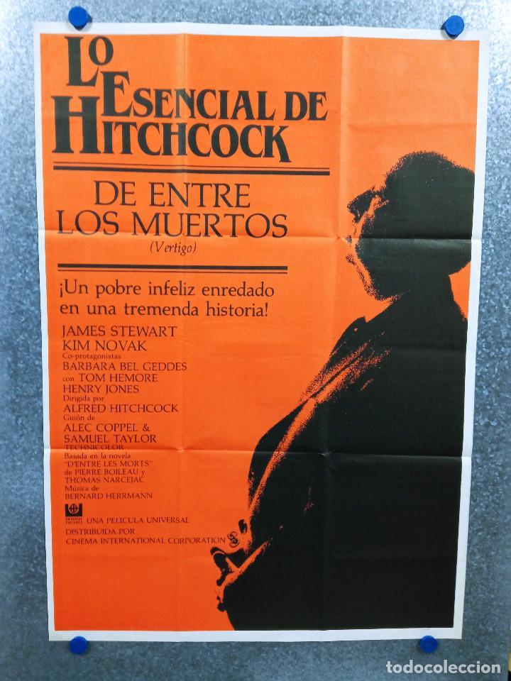 VÉRTIGO (DE ENTRE LOS MUERTOS) JAMES STEWART, KIM NOVAK, ALFRED HITCHCOCK. AÑO 1984. POSTER ORIGINAL (Cine - Posters y Carteles - Suspense)