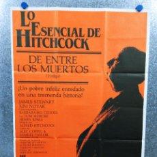 Cine: VÉRTIGO (DE ENTRE LOS MUERTOS) JAMES STEWART, KIM NOVAK, ALFRED HITCHCOCK. AÑO 1984. POSTER ORIGINAL. Lote 228478677