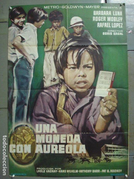 CDO 7568 UNA MONEDA CON AUREOLA BORIS SAGAL CARRERAS DE CABALLOS BARBARA LUNA POSTER ORIG 70X100 (Cine - Posters y Carteles - Deportes)