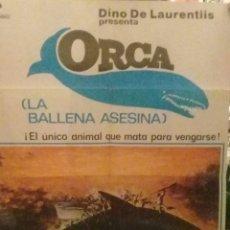 Cine: ORCA LA BALLENA ASESINA CARTEL ORIGINAL DE LA EPOCA-RICHARD HARRIS-CHARLOTTE RAMPLING-. Lote 229012250