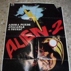 Cine: ALIEN 2 1980 BELINDA MAYNE - CARTEL DE CINE 100 X 70 CM. TERROR. Lote 229016550