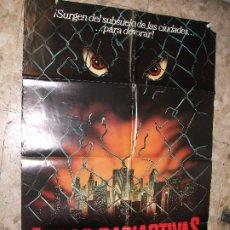 Cine: FIERAS RADIACTIVAS 1983 CARTEL DE CINE 100 X 70 CM. POSTER TERROR. Lote 229016670