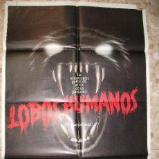 Cine: LOBOS HUMANOS 1982 CARTEL DE CINE 100 X 70 CM. POSTER TERROR. Lote 295840868