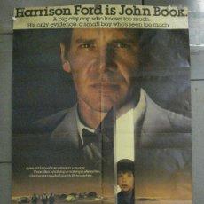 Cine: CDO 7633 UNICO TESTIGO HARRISON FORD PETER WEIR POSTER ORIGINAL AMERICANO 70X105. Lote 229208720