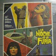 Cine: CDO 7683 LA NOCHE DE LA FURIA CARLOS AURED POSTER ORIGINAL 70X100 ESTRENO. Lote 229568685