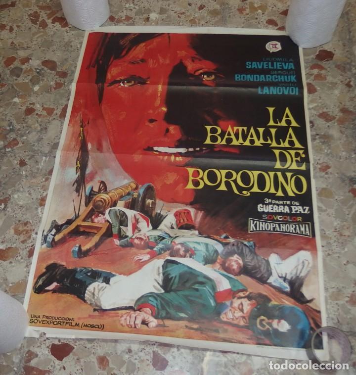 LA BATALLA DE BORODINO,3ªPARTE DE GUERRA PAZ,AÑO 1968 (Cine - Posters y Carteles - Bélicas)