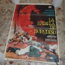 Cine: LA BATALLA DE BORODINO,3ªPARTE DE GUERRA PAZ,AÑO 1968. Lote 229575130