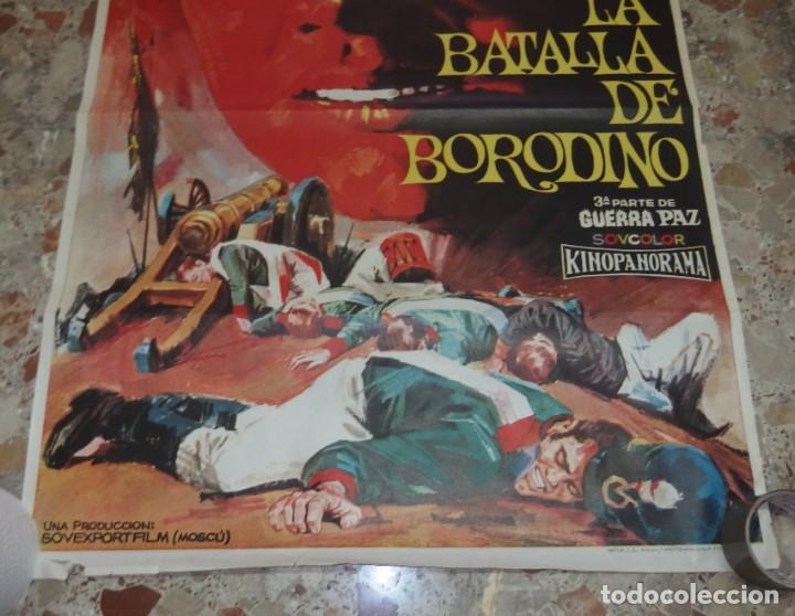 Cine: LA BATALLA DE BORODINO,3ªPARTE DE GUERRA PAZ,AÑO 1968 - Foto 4 - 229575130