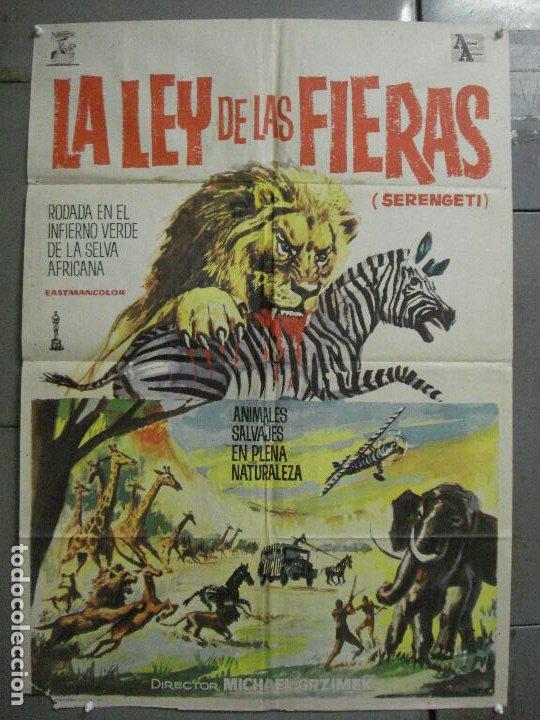 CDO 7693 LA LEY DE LAS FIERAS DOCUMENTAL AFRICA SALVAJE SERENGETI POSTER ORIGINAL 70X100 ESTRENO (Cine - Posters y Carteles - Documentales)