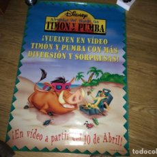 Cine: CARTEL POSTER TIMON Y PUMBA. Lote 230051755