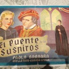 Cine: CINEVIDA PELÍCULA EL PUENTE DE LOS SUSPIROS. Lote 230108780