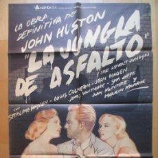 Cinema: CARTEL CINE, LA JUNGLA DE ASFALTO, MARILYN MONROE, STERLYNG HAYDEN, C1442. Lote 230193035